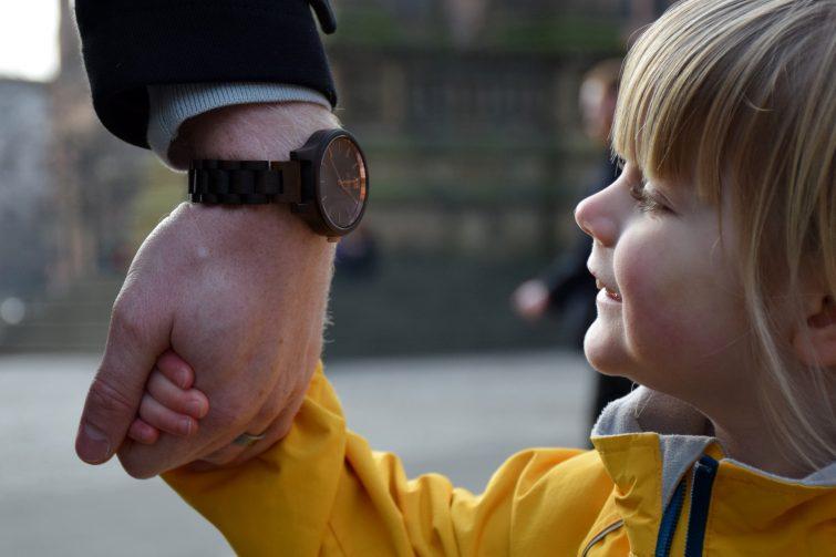 Jord Watch on Daddy's wrist