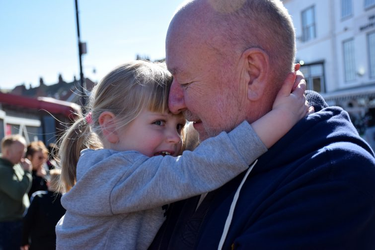 Amy and Grandad in Whitby