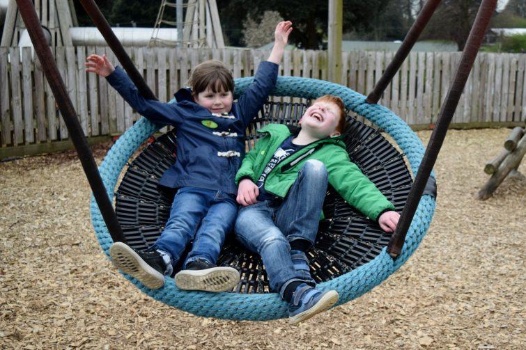 Play area at Cannon Hall Farm