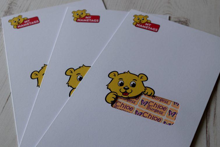 My Nametags - storage envelope