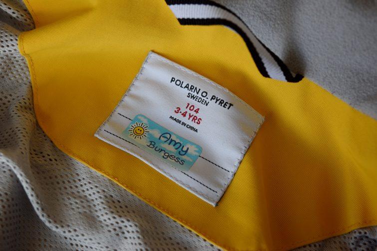 My Nametags - labelled school coat