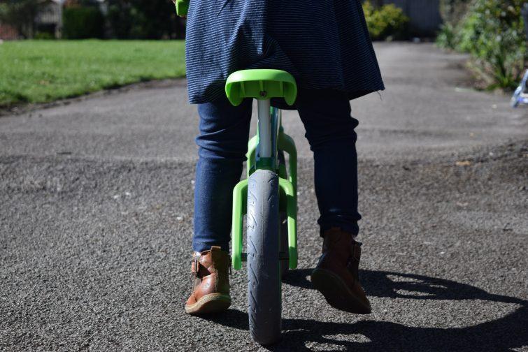 chunky wheels on Y Velo Balance Bike