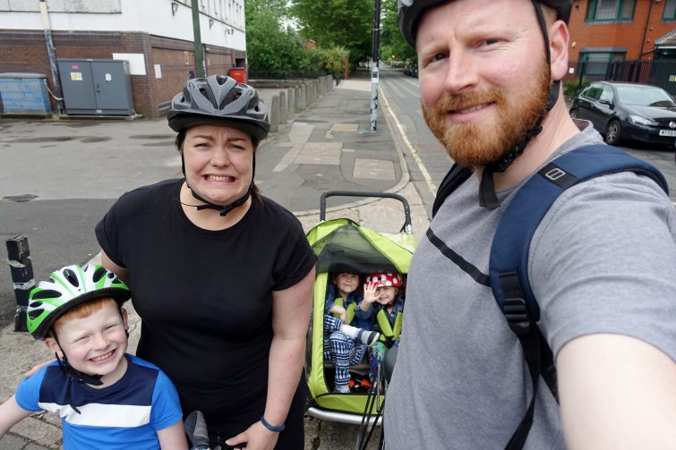 We're going on an adventure - Family cycling tour round Manchester with Piri Allergy