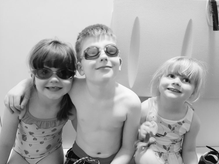 Ready for swimming at Center Parcs