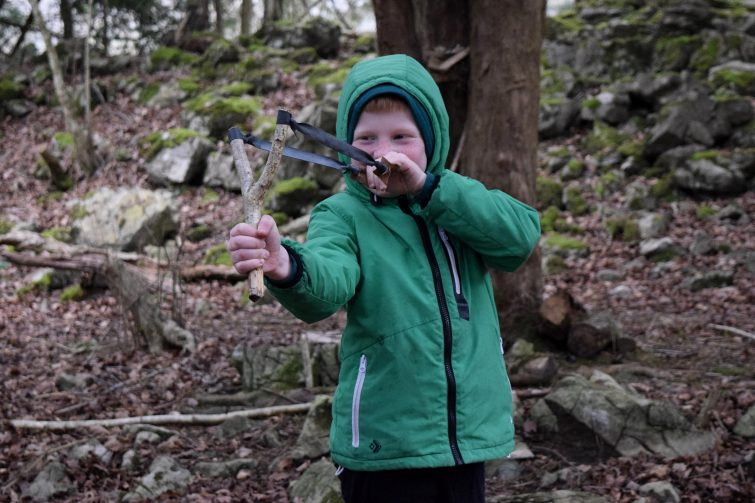 Making slingshots in the wood with Ben McNutt