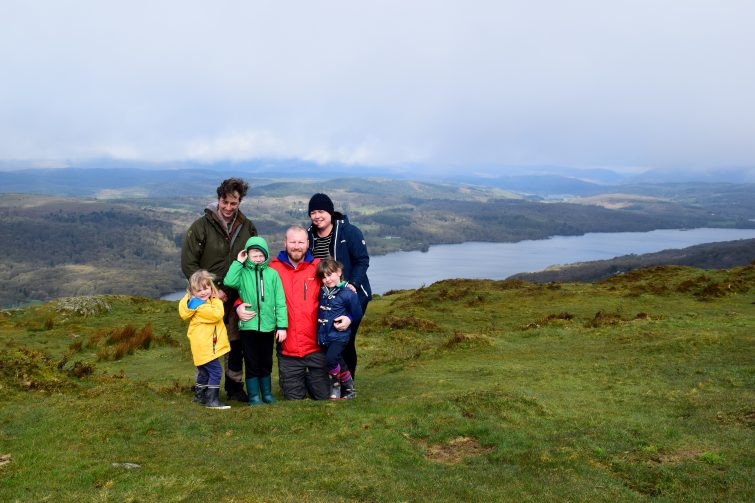 Views of Windermere at the top of Gummer's How