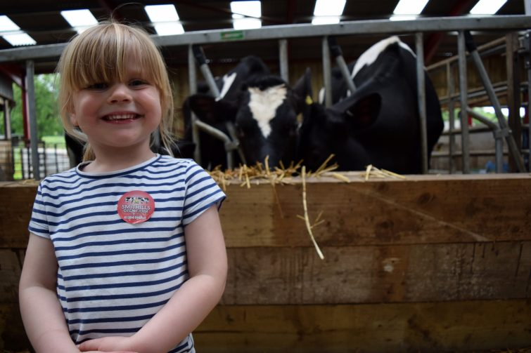 Amy & the Smithills Farm cows with Piri Allergy