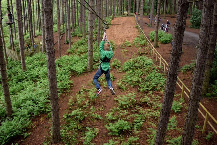Zip wire at Go Ape, Delamere Forest with Piri Allergy