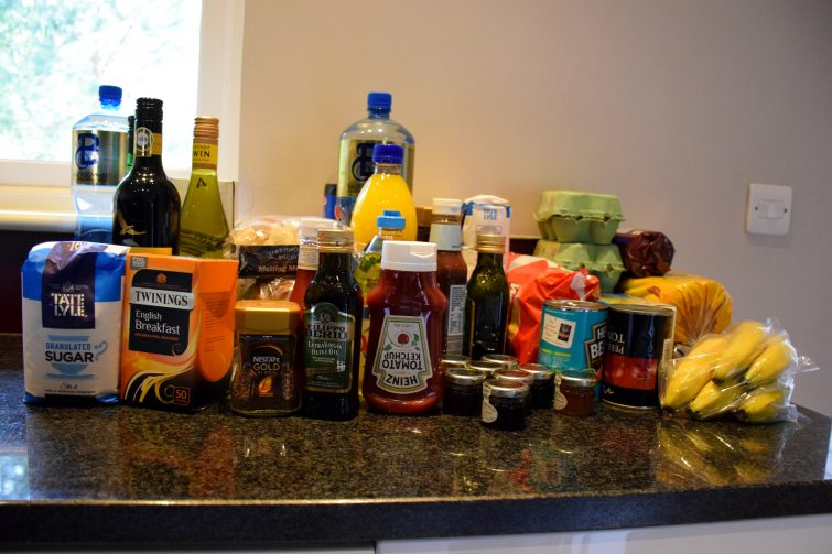 Family Grocery Pack Contents - Three bed Executive Lodge at Center Parcs, Whinfell Forest