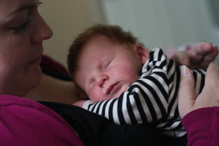 Newborn baby with Mummy