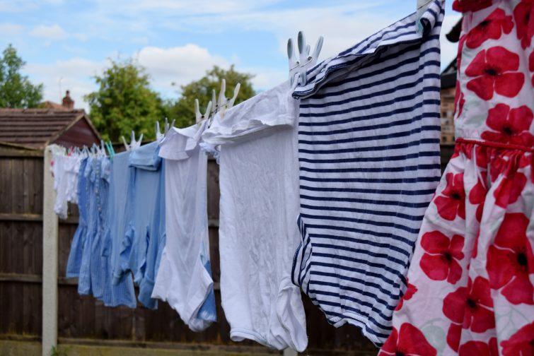 washing on the washing line