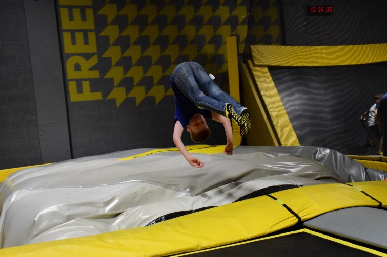 Freeform front flips onto air bag at FREEDOME