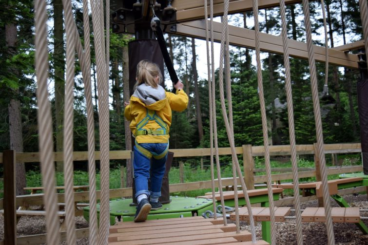 Child enjoying the Mini Trek adventure at Center Parcs Whinfell Forest