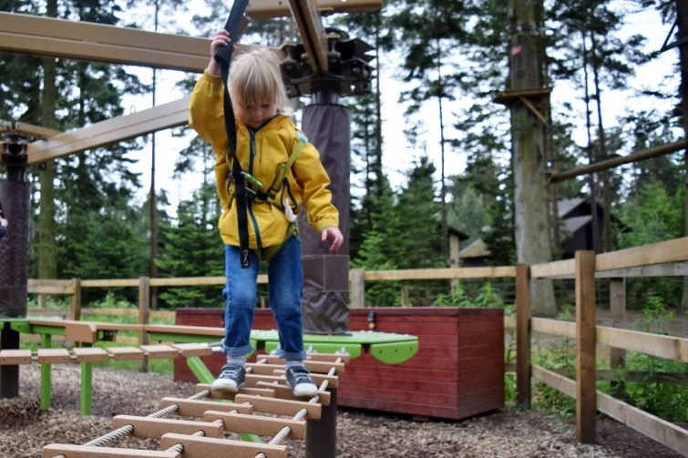 Mini Trek adventure at Center Parcs Whinfell Forest