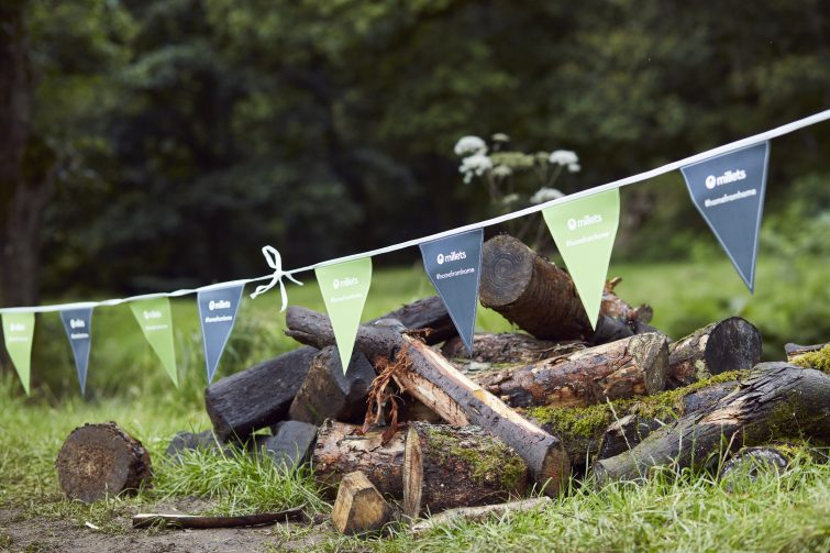 MIllets #homefromhome bunting