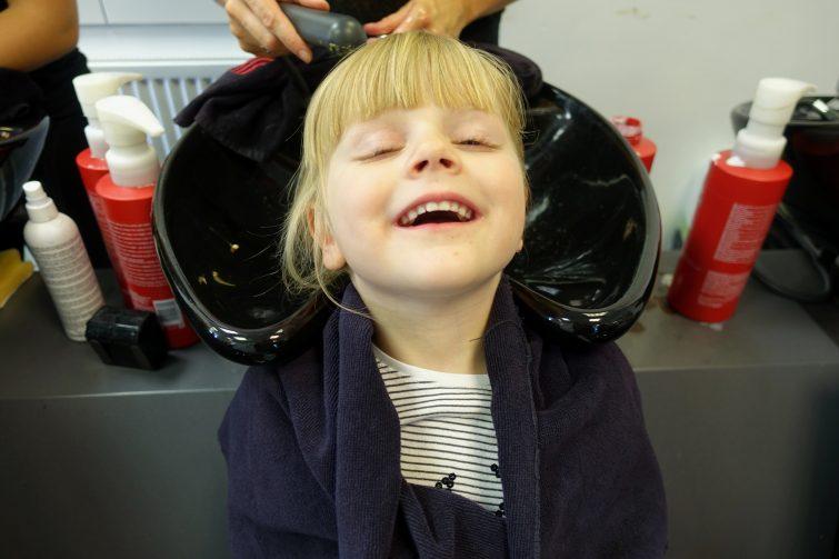 Amy's first salon hair wash