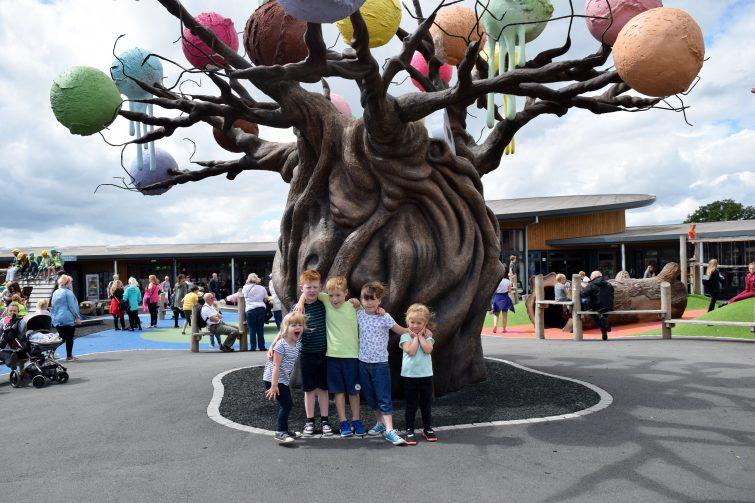 The magical ice cream tree at The Ice Cream Farm