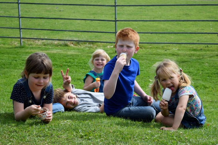 Team ice cream stop at Yorkshire Sculpture Park