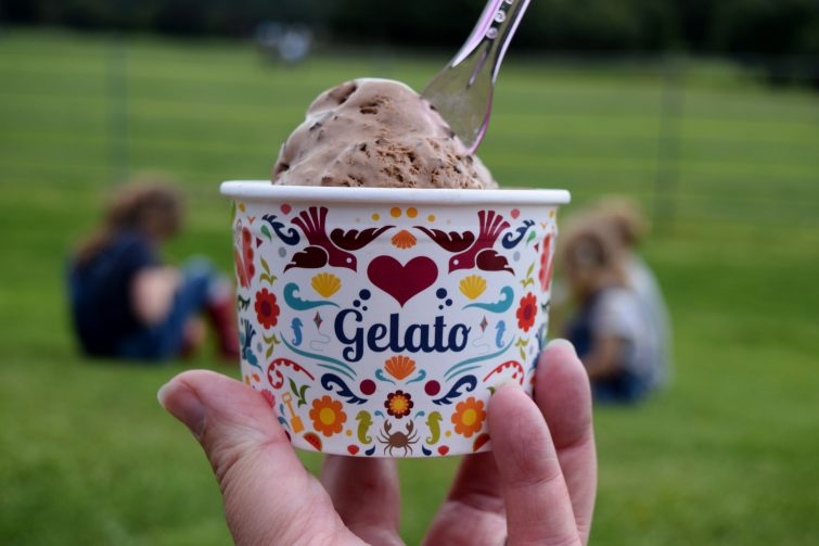 The ice cream at Yorkshire Sculpture Park is delicious!
