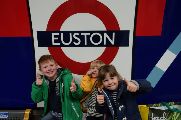 We used our Family and Friends Railcard to save money travelling to London Euston