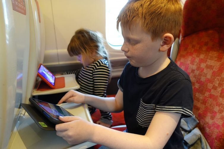 Kids on the train to London with Family and Friends Railcard