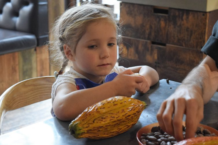 Hotel Chocolat Children's Chocolate Workshops - learning how chocolate is made