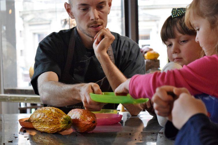 Hotel Chocolat Children's Chocolate Workshops - tasting chocolate