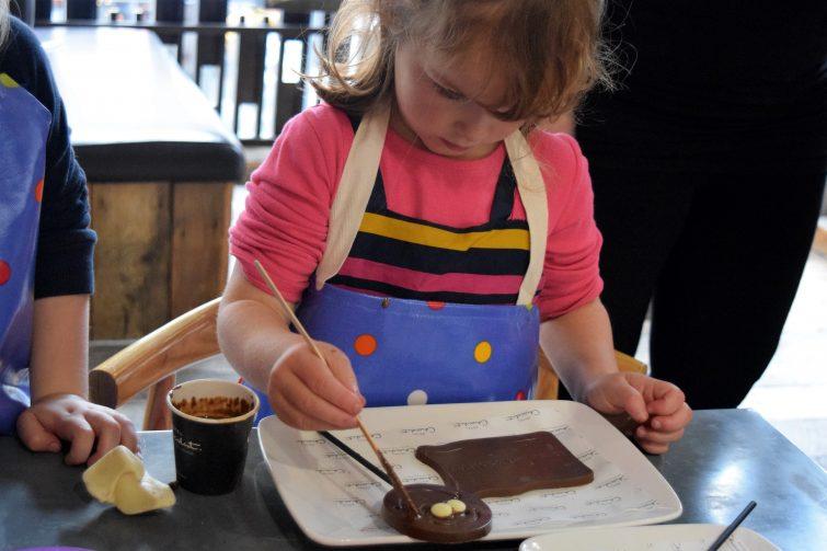 Hotel Chocolat Children's Chocolate Workshops - chocolate self portrait