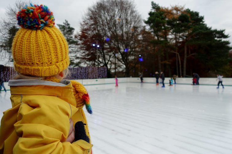 real ice skating rink - Stockeld Park Christmas
