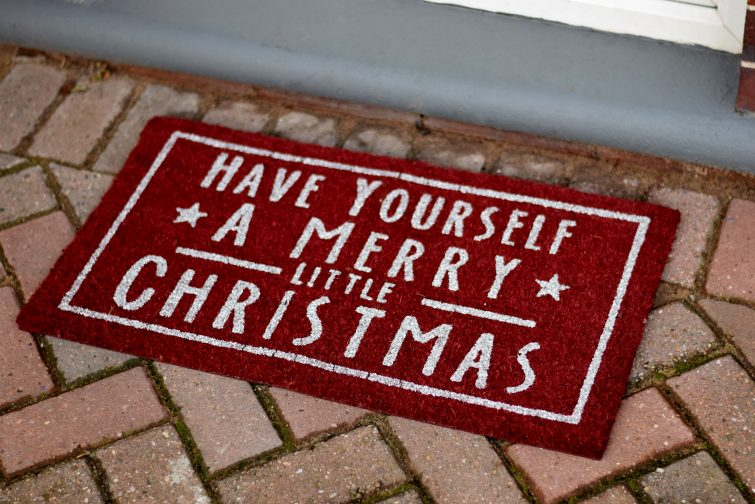 Sparkly Christmas doormat from John Lewis