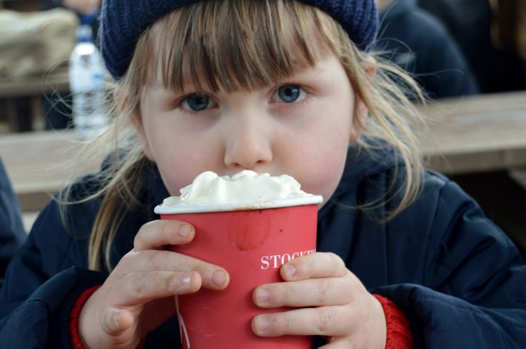 Hot chocolate at Stockeld Park, Christmas adventure