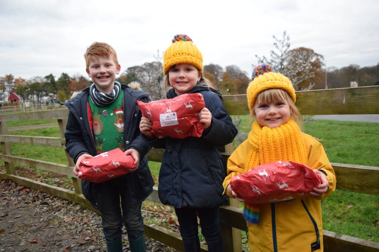 presents from Father Christmas at Stockeld Park