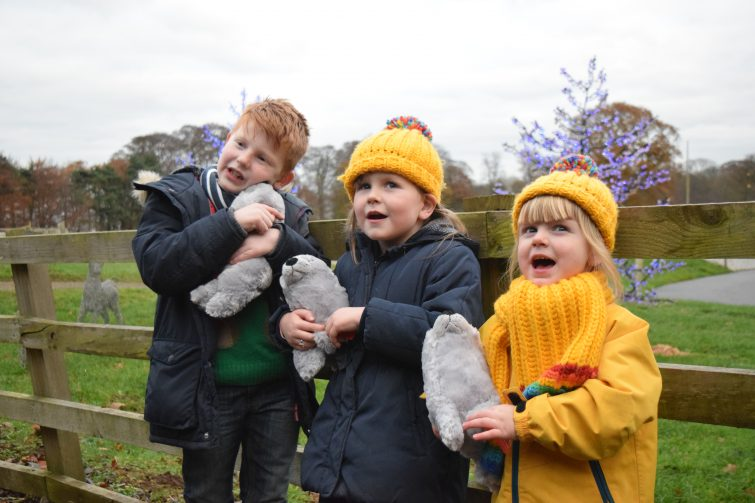 Cuddly toys from Father Christmas at Stockeld Park