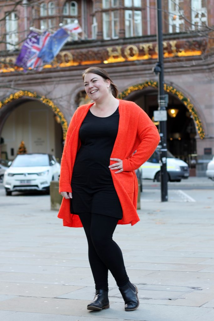 Orange cardigan from Sainsburys