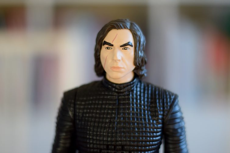 Kylo Ren action figure face
