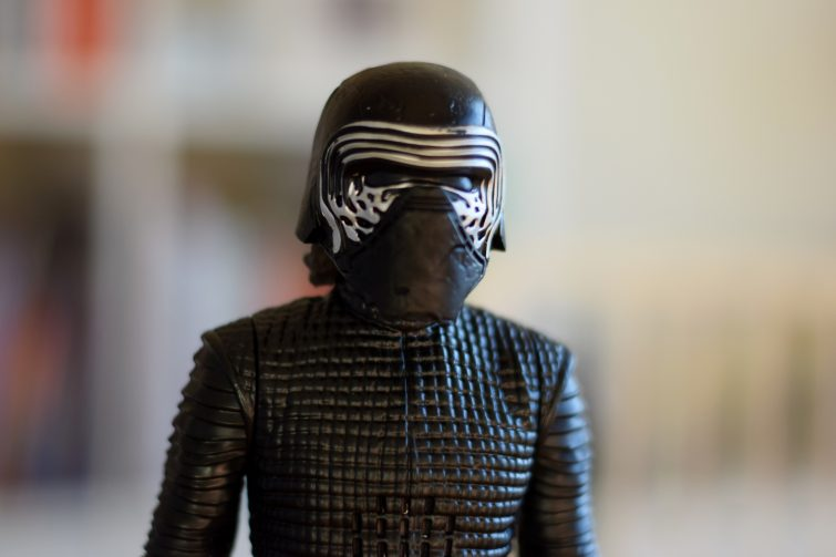 Kylo Ren action figure with helmet