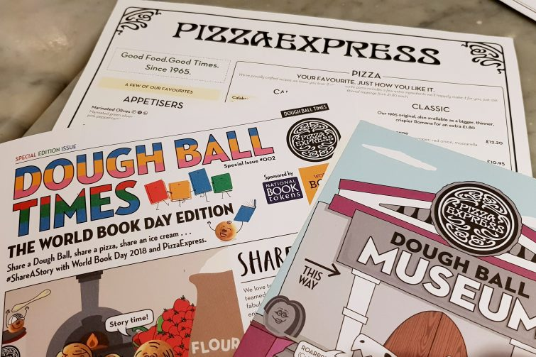 PizzaExpress and World Book Day menu inserts