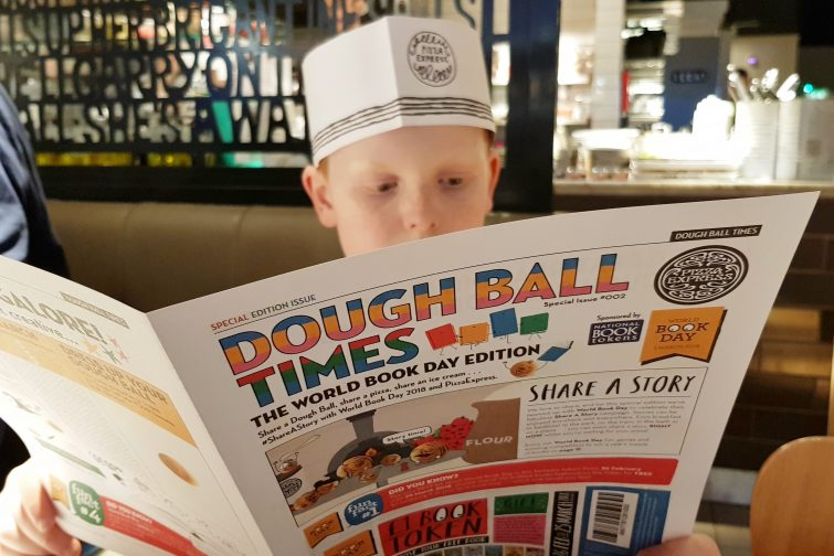 Pizza Express World Book Day - Dough Ball Times