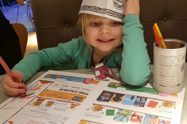 Children's World Book Day activities at PizzaExpress