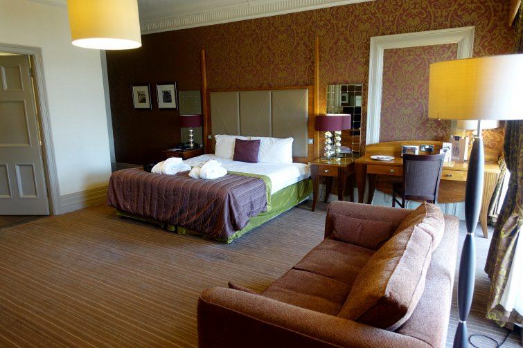 huge Deluxe Garden View room at The Majestic Hotel, Harrogate