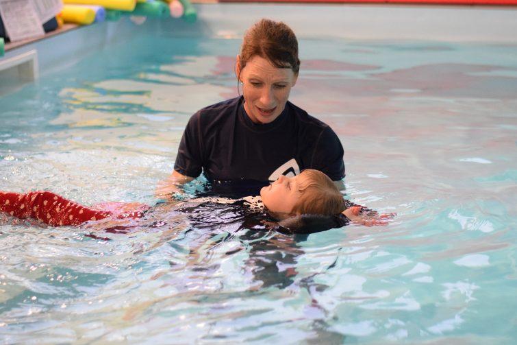 Puddle Ducks Swim Academy Pyjama Week - learning to float