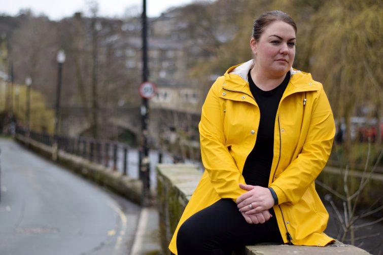 bright yellow raincoat