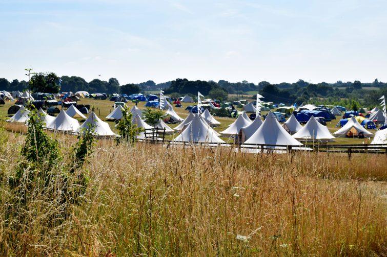 Timber Festival campsite