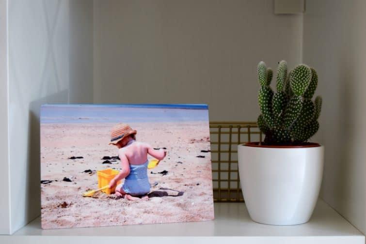 Snapfish desktop metal photo print
