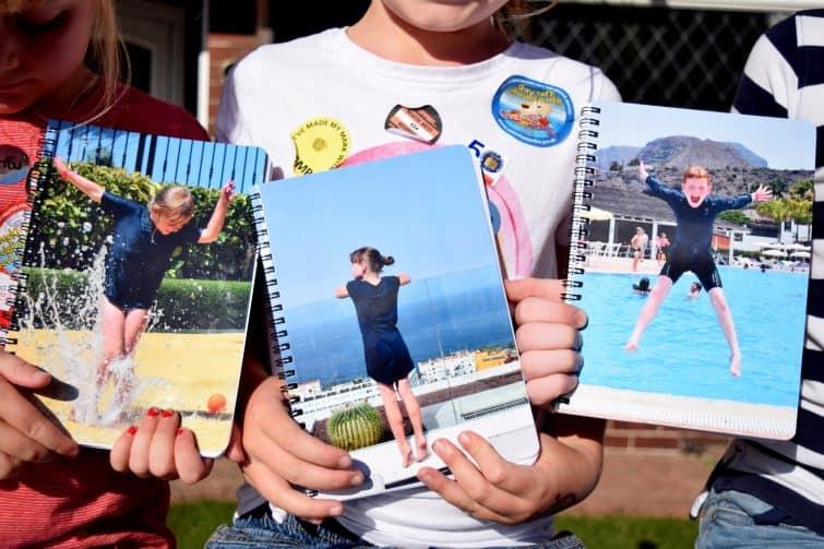 Snapfish personalised photo notebooks with holiday photographs