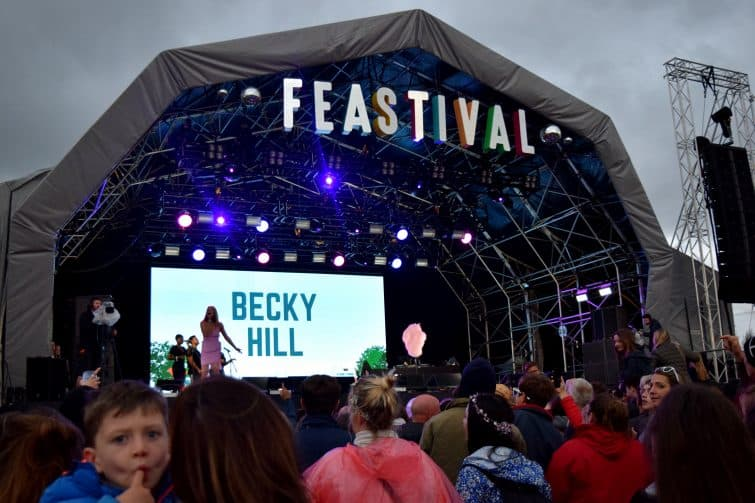UK Family Friendly Festivals - The Big Feastival 2018, Main Stage- Becky Hill