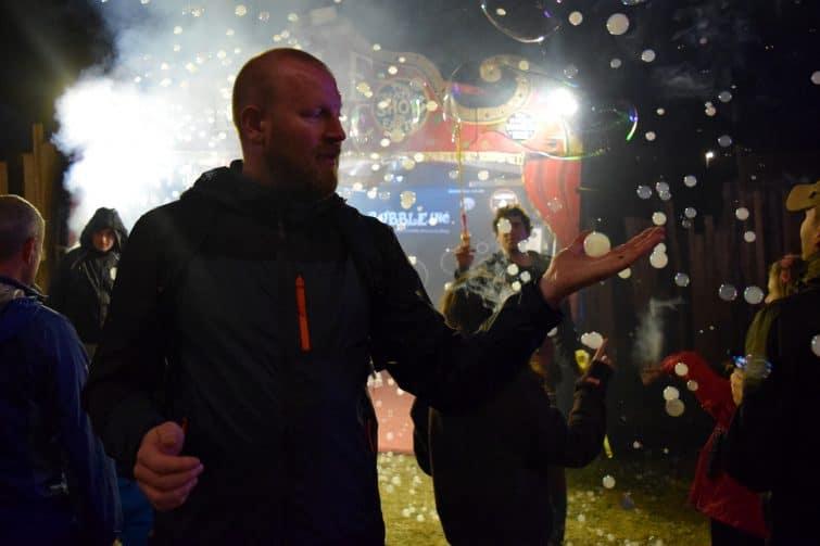 The Big Feastival 2018 - smokey bubbles @bubbleincuk