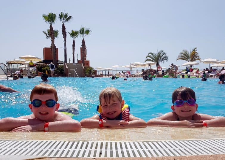 Holiday Village Tenerife kids in quiet pool