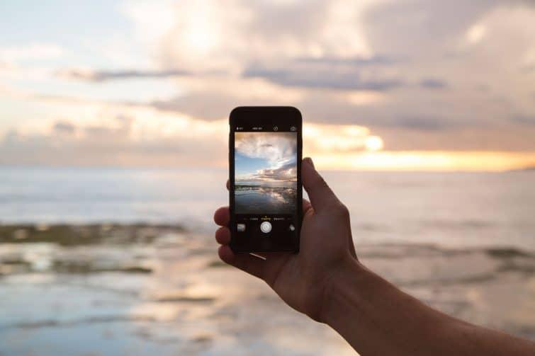 Sunset photo through camera phone