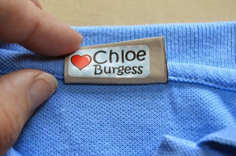 My Nametags personalised labels for school uniform